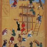 Der Bau des Palastes von Khawarnaq (anonym)