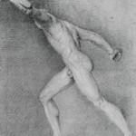 Studienzeichnung Borghesischer Fechter - Friedrich von Gärtner - 1809